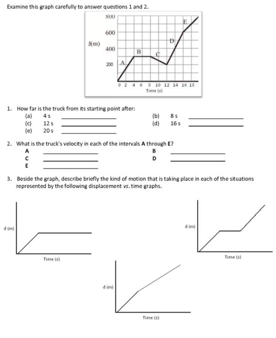 All Grade Worksheets Displacement And Velocity Worksheet Answers – Distance and Displacement Worksheet with Answers